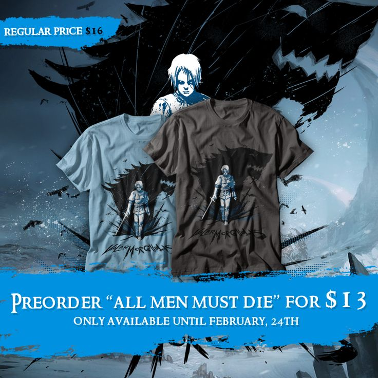 "Preorder ""All men must die"" tee until February 24th at www.othertees.com/shop #arya #aryastark #got #gameofthrones #othertees"