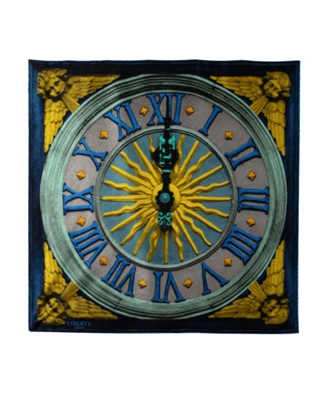 silk clock scarf - Liberty of London