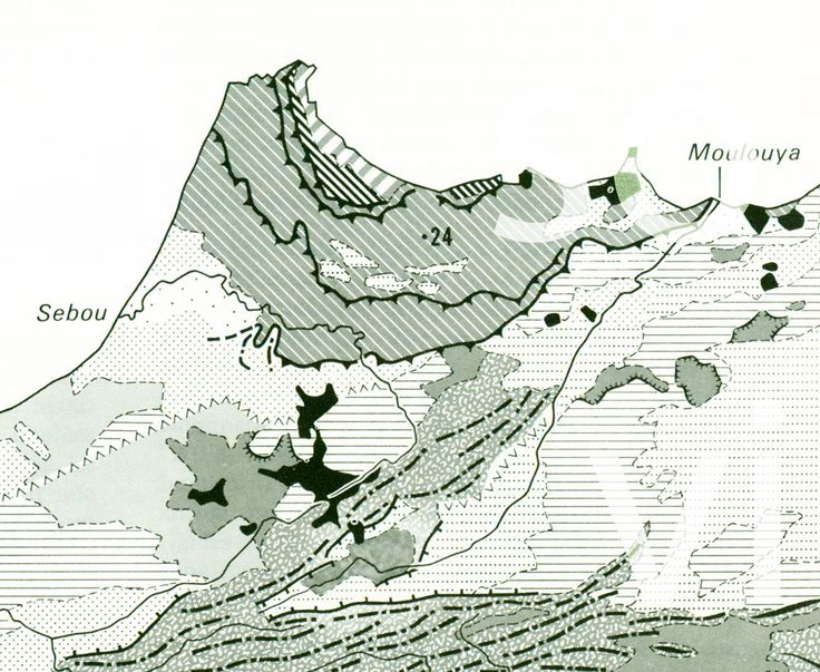 1970 Carte Géologique de l'Afrique du Nord Tunisie Algerie Maroc Géomorphologie de la boutique sofrenchvintage sur Etsy