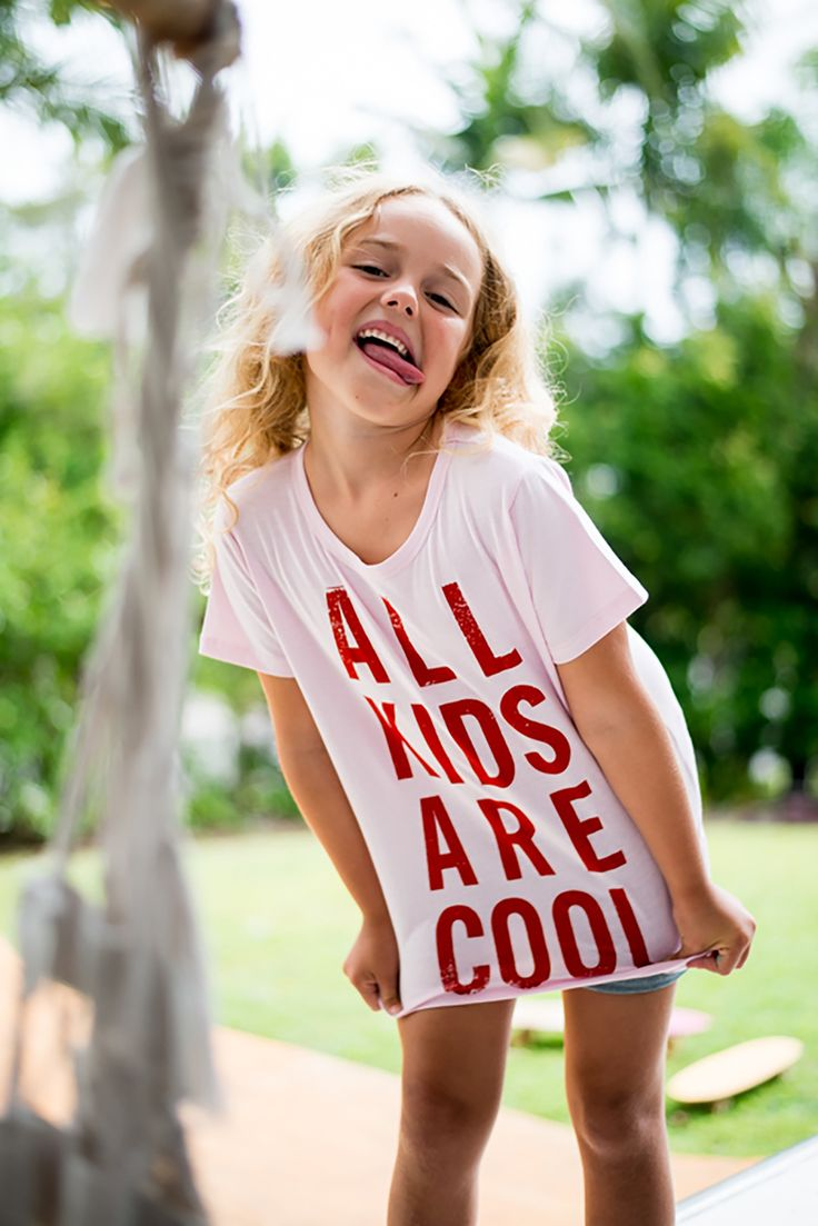 Bandit Kids Powder Pink All Kids Are Cool Tee from online kids store A Little Bit of Cheek