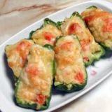 ピーマンにポテトサラダを詰めます!お弁当に! レシピ・作り方 by torezu 楽天レシピ