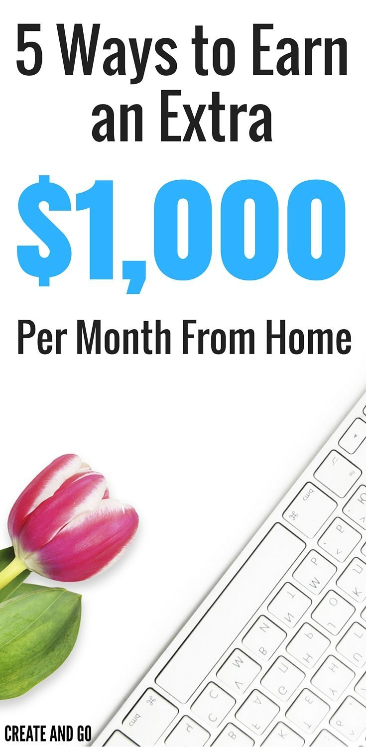 The cool thing about the side hustle income is that you can do it on your own time and when you need to earn some extra cash.  Perhaps the best part is that you can earn money online right from your home! http://createandgo.co/earn-extra-1000k-month-online/