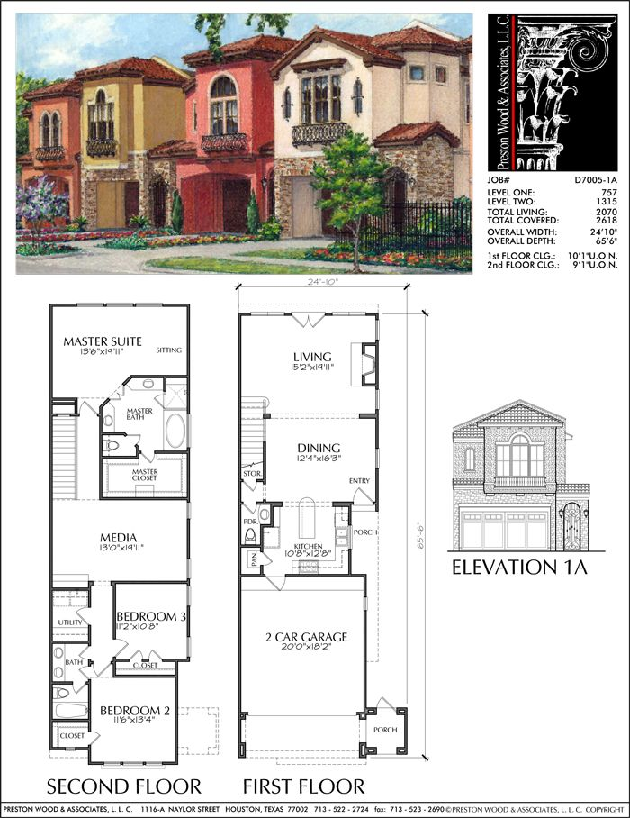 43 best creative house plans images on pinterest floor for Luxury townhome plans