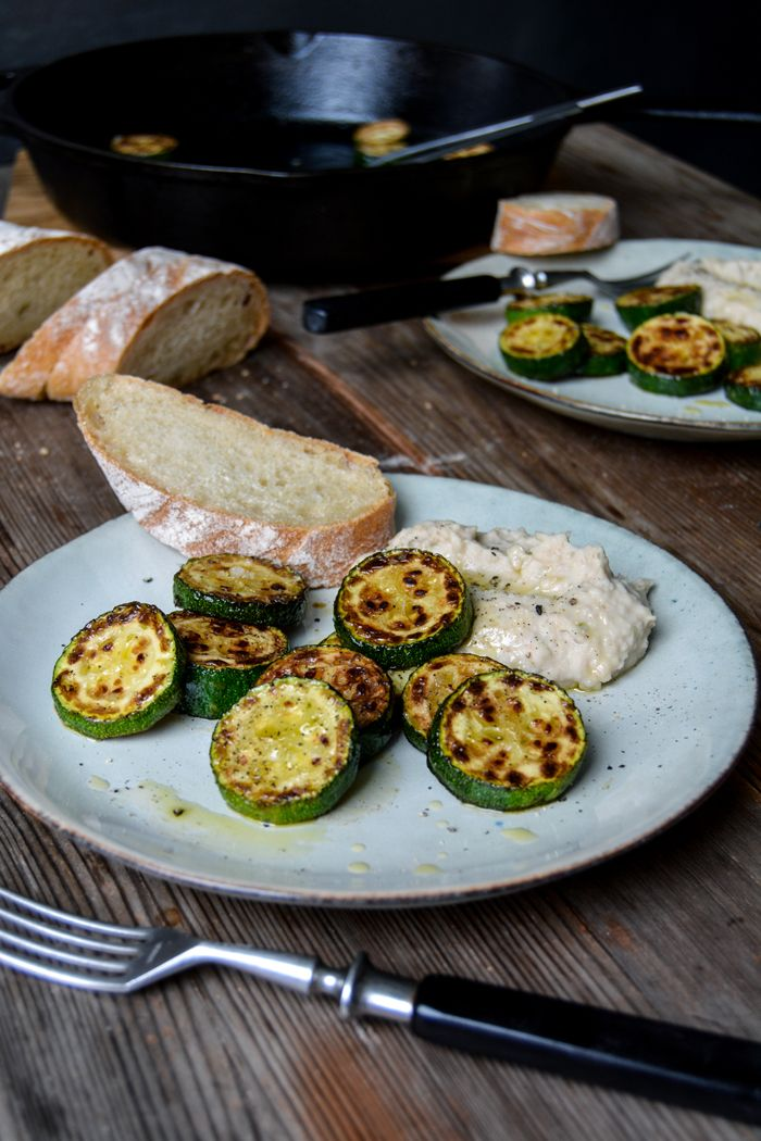 Bean and Caper Dip with Golden Sautéed Zucchini ° eat in my kitchen