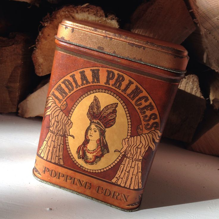 Indian Princess Popping Corn tin $7, Waukewan Antiques, Meredith, NH