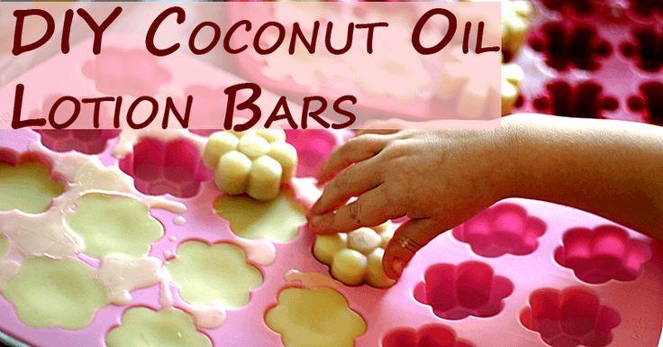 DIY Coconut Oil Lotion Bars   VeggieConverter