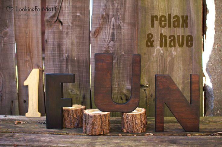 Wooden Letters F U N by LFM ( 19 cm x 18 mm )