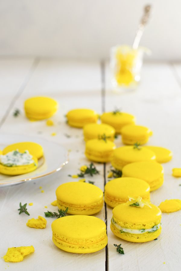 Ricotta Thyme and Lemon Confit Macarons | Erbsensuppe