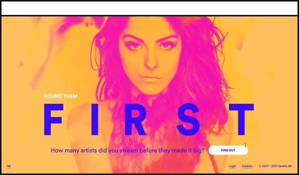 As is becoming custom for Spotify, this site is quite beautiful – smooth and easy on the eye.
