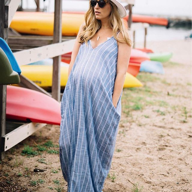 Anyone else need some sort of device that ejects them out of bed?! Because so far, that's been the most difficult part of my day 😂 I rounded up all my favorite non maternity dresses from @nordstrom on the blog today! This striped one is my FAVORITE and for less than $60, you can't beat it! I wear it with a lace bralette when going out somewhere AND as a beach coverup! Check out the rest of my favorite dresses in the post or by using http://liketk.it/2rZPy @liketoknow.it #liketkit // sign up