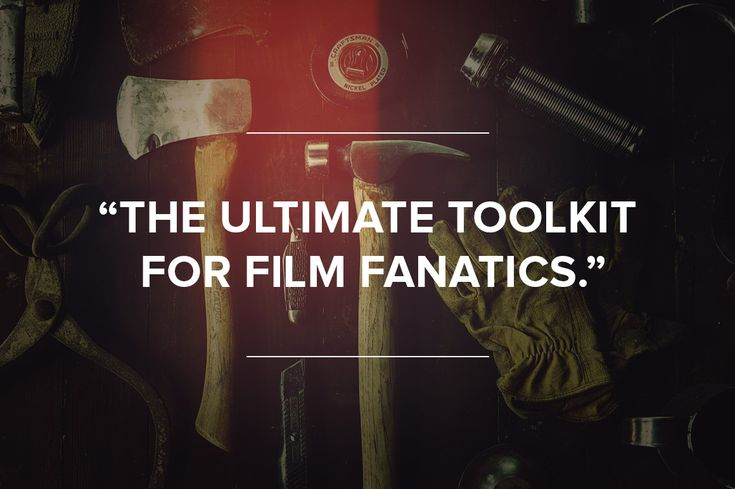 The ultimate Photoshop toolkit for film fanatics. Grab it today on CreativeMarket.