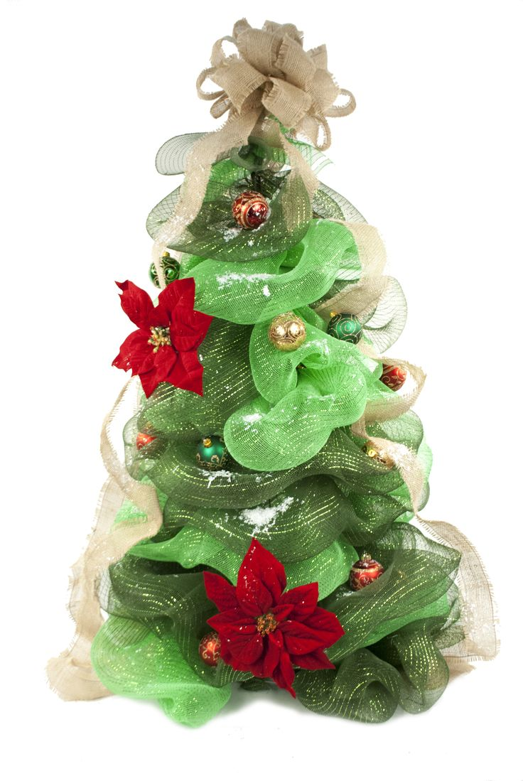 Deco Mesh Christmas Tree  #christmas #wreath #decomesh