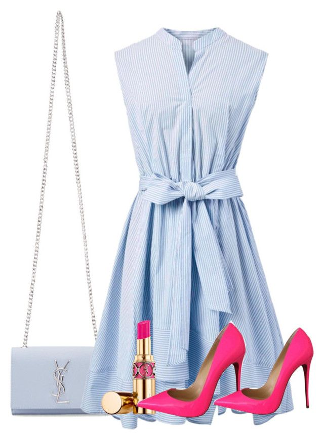 """""""Untitled #216"""" by naomy-nona ❤ liked on Polyvore featuring Yves Saint Laurent, Chicwish and Christian Louboutin"""
