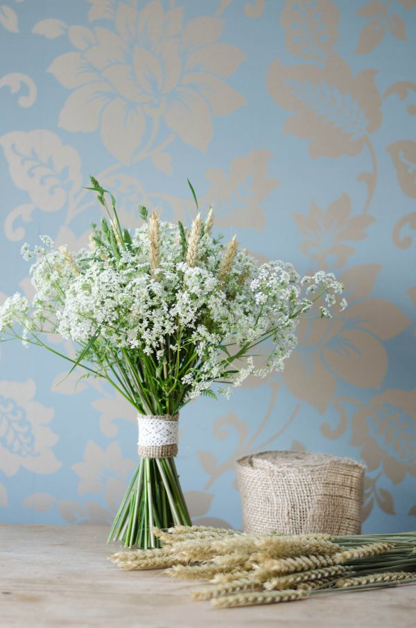 A DIY Foraged Bouquet of Queen Anne's Lace, Grasses and British Grown Wheat image by https://www.facebook.com/pages/Kate-Waters-Photography/222440041172818?fref=ts