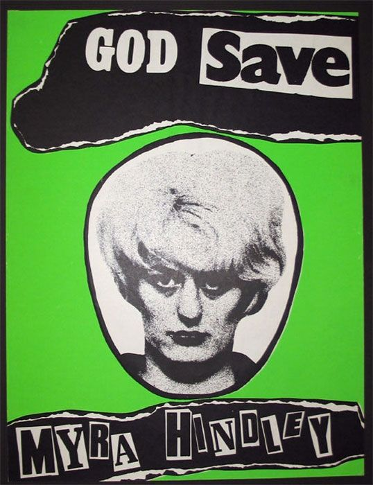 amie Reid, God Save Myra Hindley, 1979, lithographic print on paper, mm 605x456, Jamie Reid copyright Sex Pistols Residuals