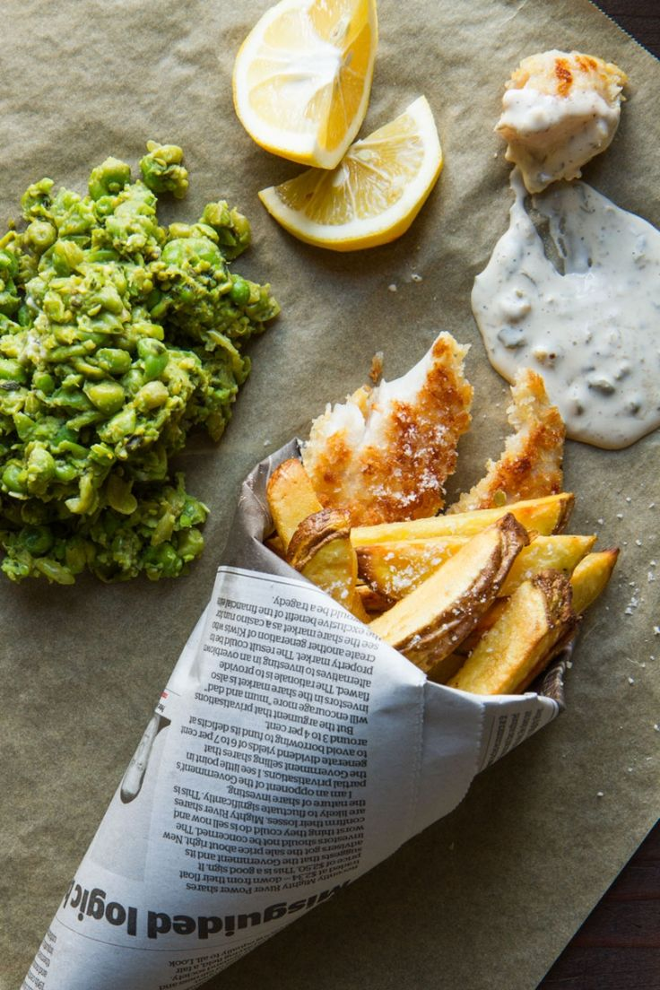 Fish n Chips with Smashed Minted Peas Copy