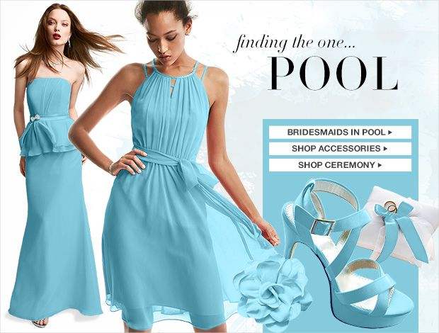 Turquoise Bridesmaid Dresses David S Bridal Wedding Gallery