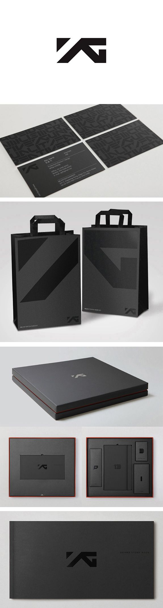 Identity / YG rebrand beauty in black #packaging #branding PD