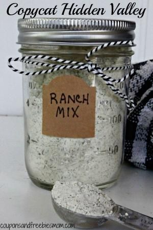 Copycat Hidden Valley Ranch Mix -  easy, delicious and inexpensive. Great for holiday gifts! Check out this simple fool-proof recipe now! by MarylinJ