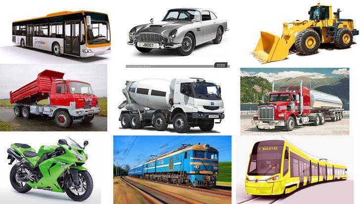Montesorri poznávací kartičky ke stažení a vytištění- auta / dopravní prostředky