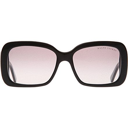 Love the solid black frames on these Ralph Lauren sunglasses