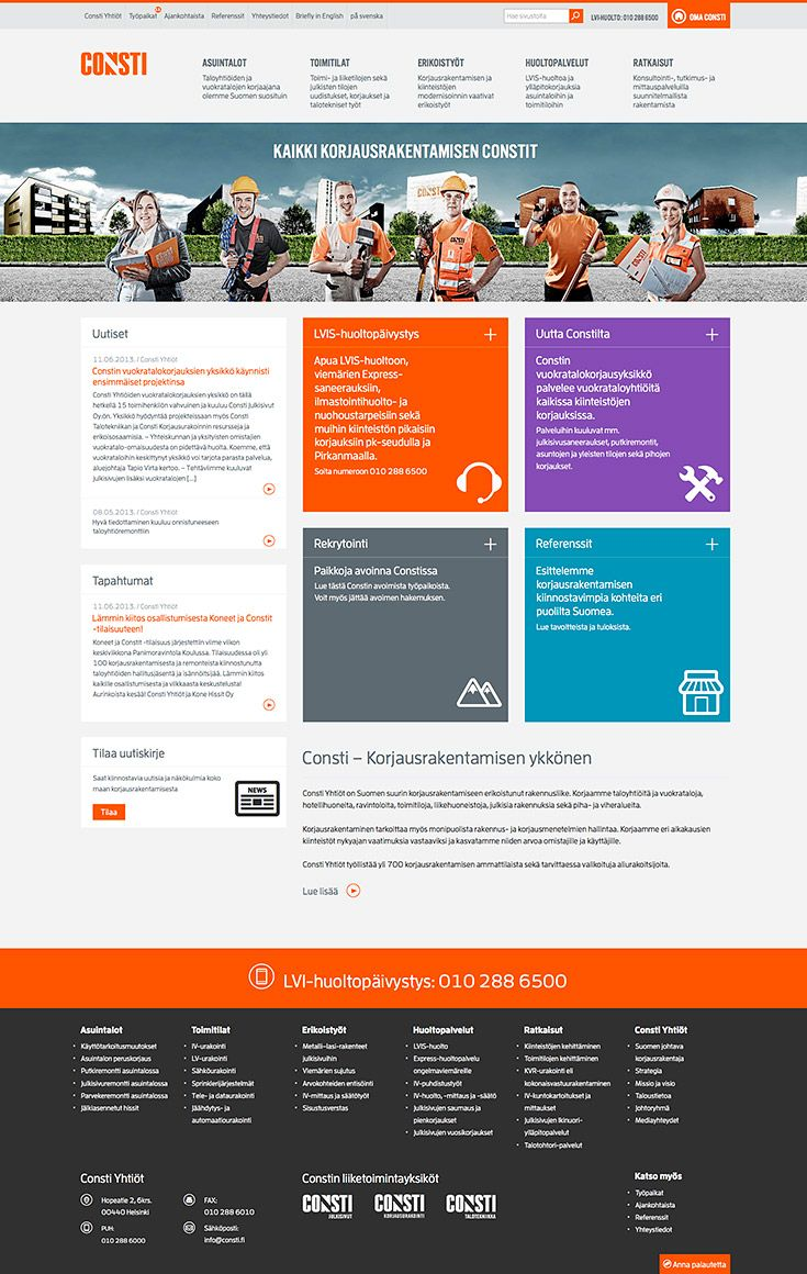Facelift of Consti web site, Made in Redland: http://www.redland.fi/consti-www-uudistus/
