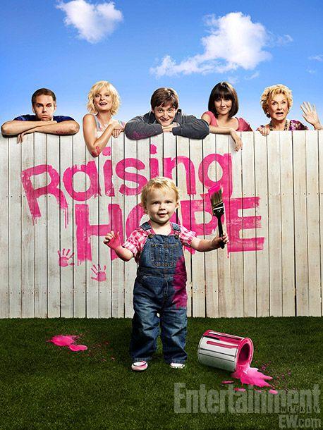 Raising Hope.  One of my favorites.  Especially enjoy Martha Plimpton, Garret Dillahunt and Cloris Leachman.  Funny!!