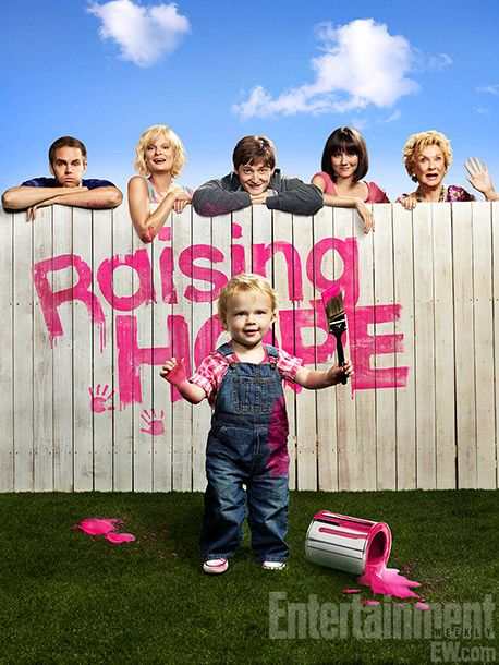 Raising Hope.  One of my favorites.  Especially enjoy Martha Plimpton, Garret Dillahunt and Cloris Leachman.  Funny!!