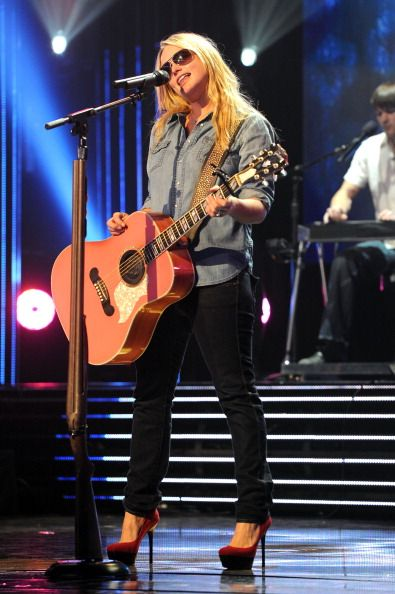 Miranda Lambert performing at the grammy nominations concert 2012
