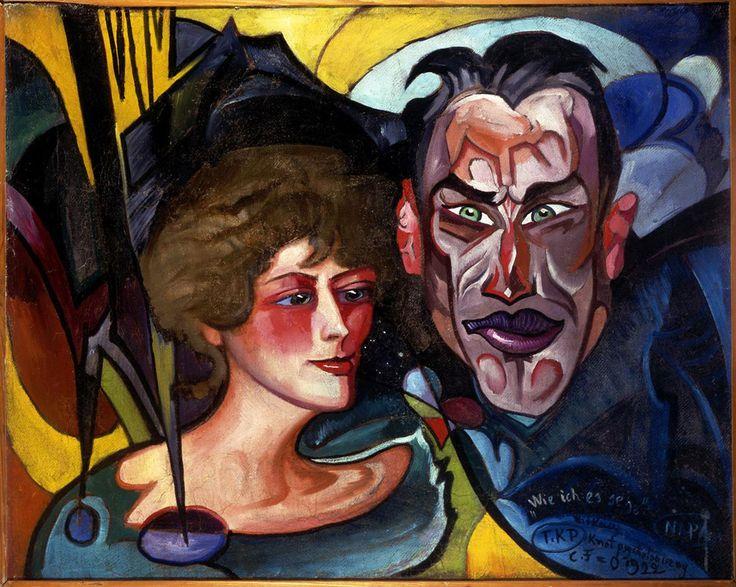 Stanisław Ignacy Witkiewicz (Witkacy), Portrait of Anna and Jarosław Iwaszkiewicz (1922)