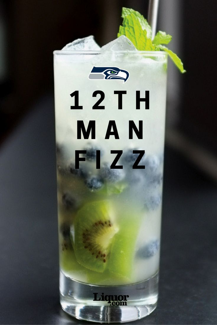 For the 2016 NFL season, we had a bartender from each #NFL team's hometown provide the perfect cocktail to represent their team.  For the Seattle #Seahawks, the famous blue and green colors are showcased with kiwis and blueberries mixed with gin, brandy, lime and ginger beer. The perfect drink for every 12th man!