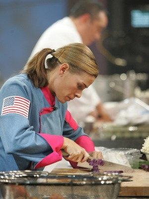 first female iron-chef hard at work