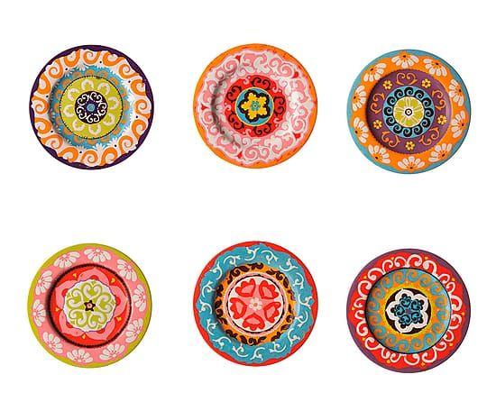 "Komplet 6 talerzy ""Nador Mix II"", Ø 13, wys. 1,5 cm"