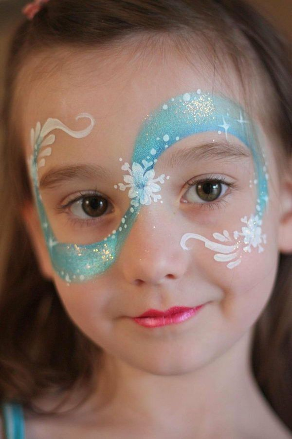 Frozen Face Painting, Cool Face Painting Ideas For Kids, http://hative.com/cool-face-painting-ideas-for-kids/, #kids kids parties #party kids party ideas