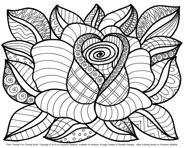 Adult Coloring Book Pages Flowers