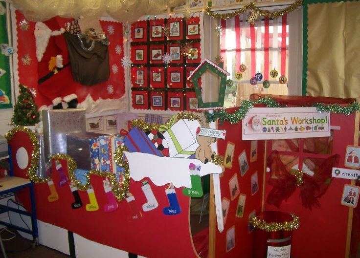 Lots of tinsel in this excellent Santa's Workshop roleplay area from Mrs Mason and Miss Taylor.