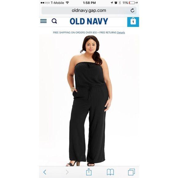 plus size strapless jumpsuit size 3X Strapless jumpsuit size 3X - new - never worn Old Navy Pants Jumpsuits & Rompers