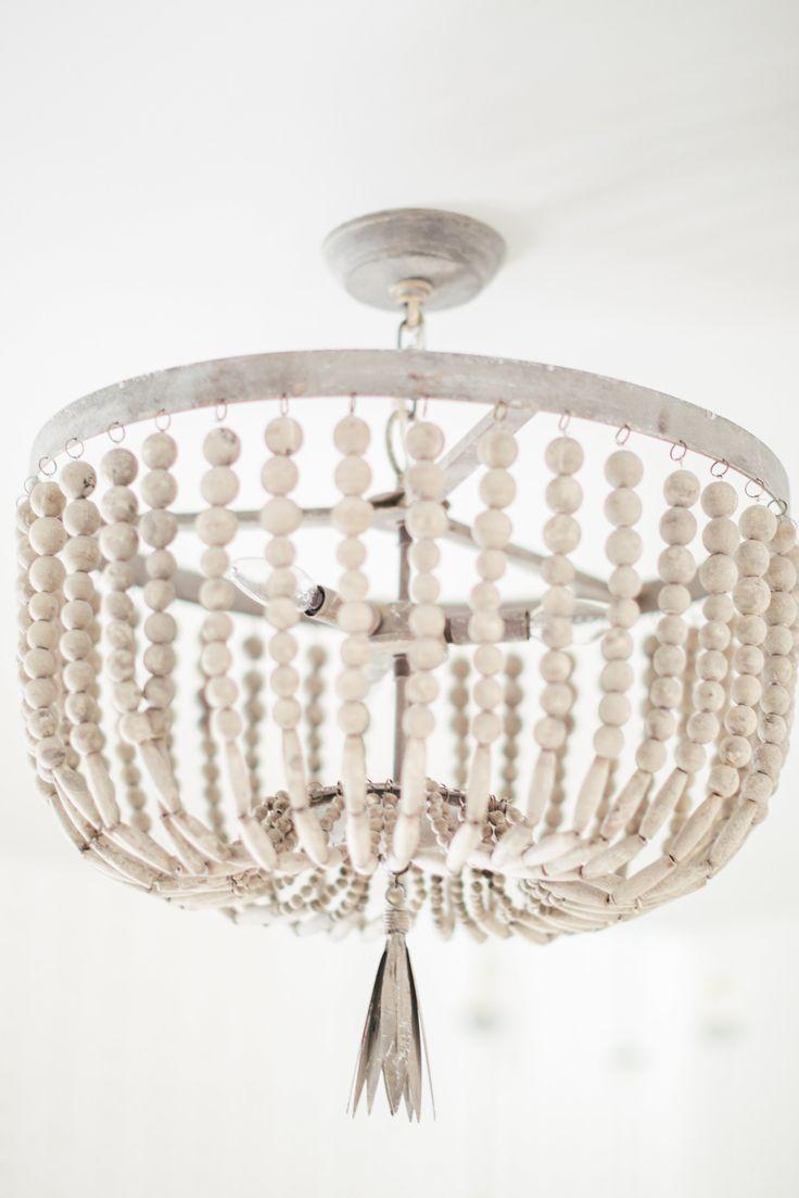 578 best lighting modfarm images on pinterest lighting ideas white beaded boho chandelier arubaitofo Image collections