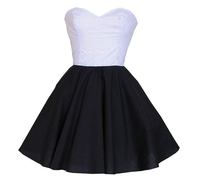 S vhs black and white dresses