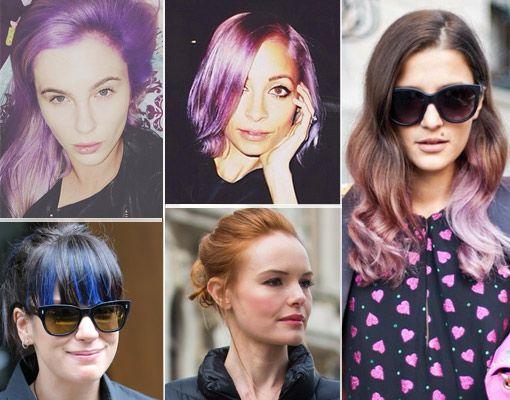 Juego de tonos de pelo entre las celebs: ¿a quién le sienta mejor el pelo a todo color?