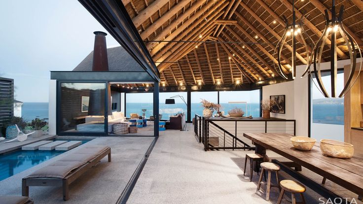 On the West Coast of South Africa, this is a contemporary interpretation of vernacular architecture. A wind protected courtyard houses a pool while a glass f...