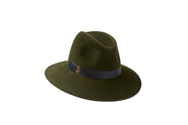 The Willow Fedora Collection | Green | Leather & Pheasant Feather Band www.penmayne.com #fedora #hats #accessories
