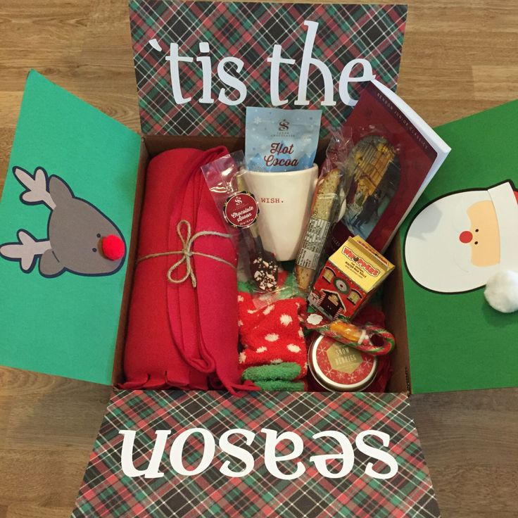 Snuggle Up / Tis The Season Care Package Gift Box by HelloLittleBox on Etsy https://www.etsy.com/listing/258025829/snuggle-up-tis-the-season-care-package