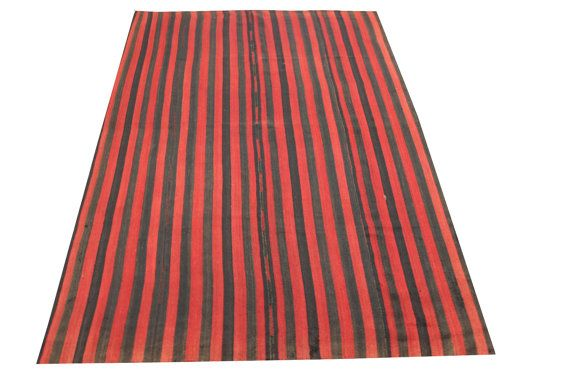 Oriental Turkish Kilim rugs 87 x 53 Feet by stripepattern on Etsy