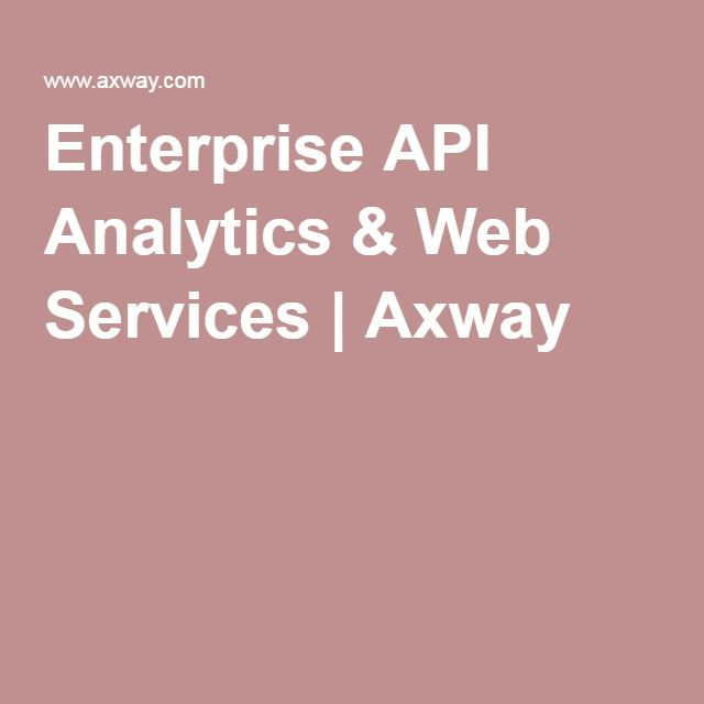 Enterprise API Analytics & Web Services | Axway