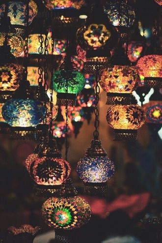Turkish Mosaic Lamps Home Decoration Home Accessory Multicoloured Lanterns Idk what board to put this on...