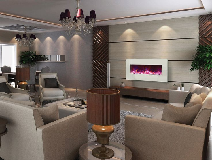 This stylish unit will add a touch of elegance to a space by day and a splash of color by night. Unit can be wall mounted or built-in to the wall for a more custom look and finish. #homedecor #interiordesign #contemporaryfireplace #fireplace #ventlessfireplace #ventless #modern #contemporary #modernhome #home #fireplaceideas #electricfireplace #moderndesign #remodeling