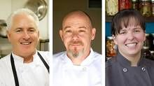 From left: Jay Nutt's café, Nuttshell Next Door, is located in Lakefield; Kevin McKenna brings the forest to the tables at Inn at Mt. Julian; Lesley Kirkland runs the The Lantern Restaurant and Grill, on Stony Lake.