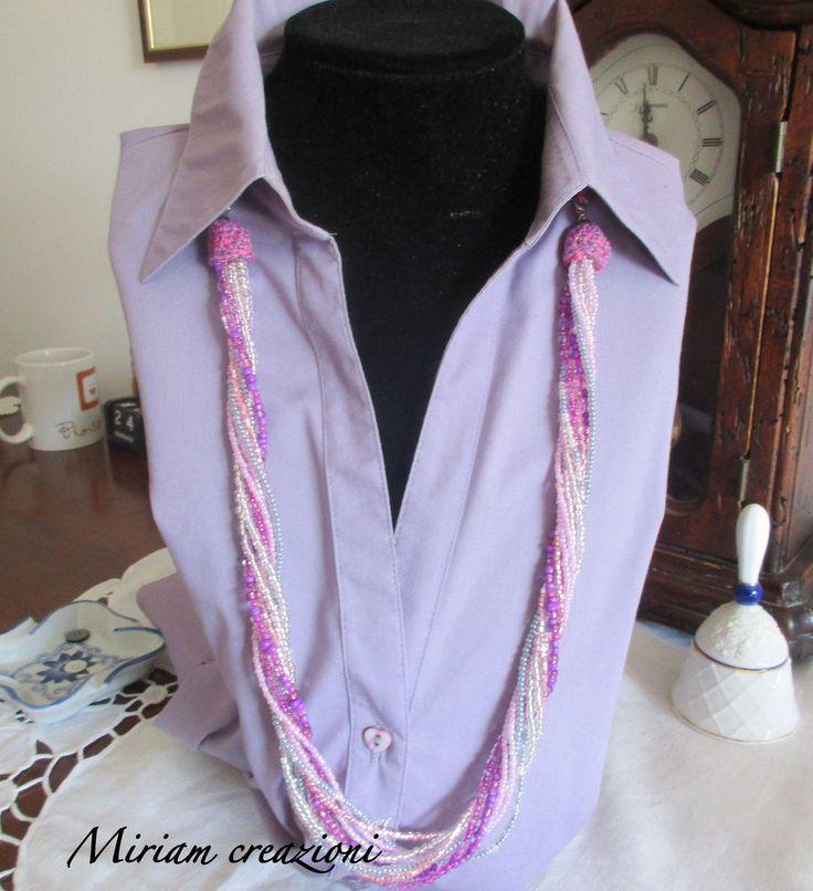 Collana con perline a dieci fili, by vetrina miriam chiocciola, 20,00 € su misshobby.com