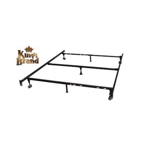heavy duty adjustable metal bed frame 7 legs queenfullfull xltwin